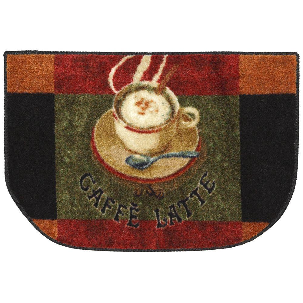 Mohawk Home Caffe Latte Primary 18 in. x 30 in. Slice Kitchen Accent Rug
