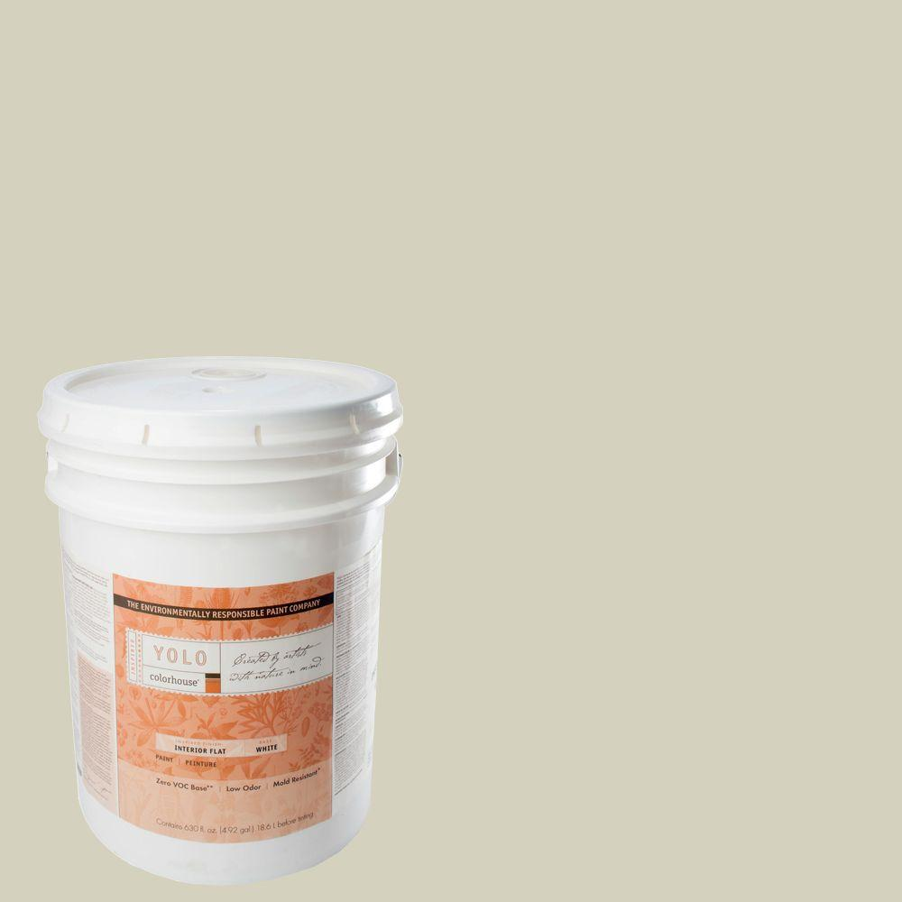 YOLO Colorhouse 5-gal. Nourish .01 Flat Interior Paint-DISCONTINUED