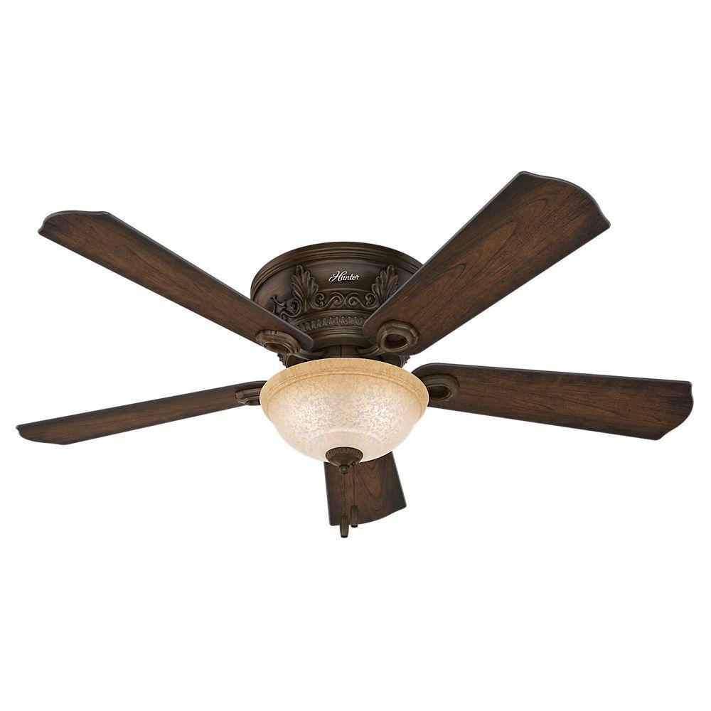 hunter bergeron 52 in indoor northern sienna bronze ceiling fan rh homedepot com
