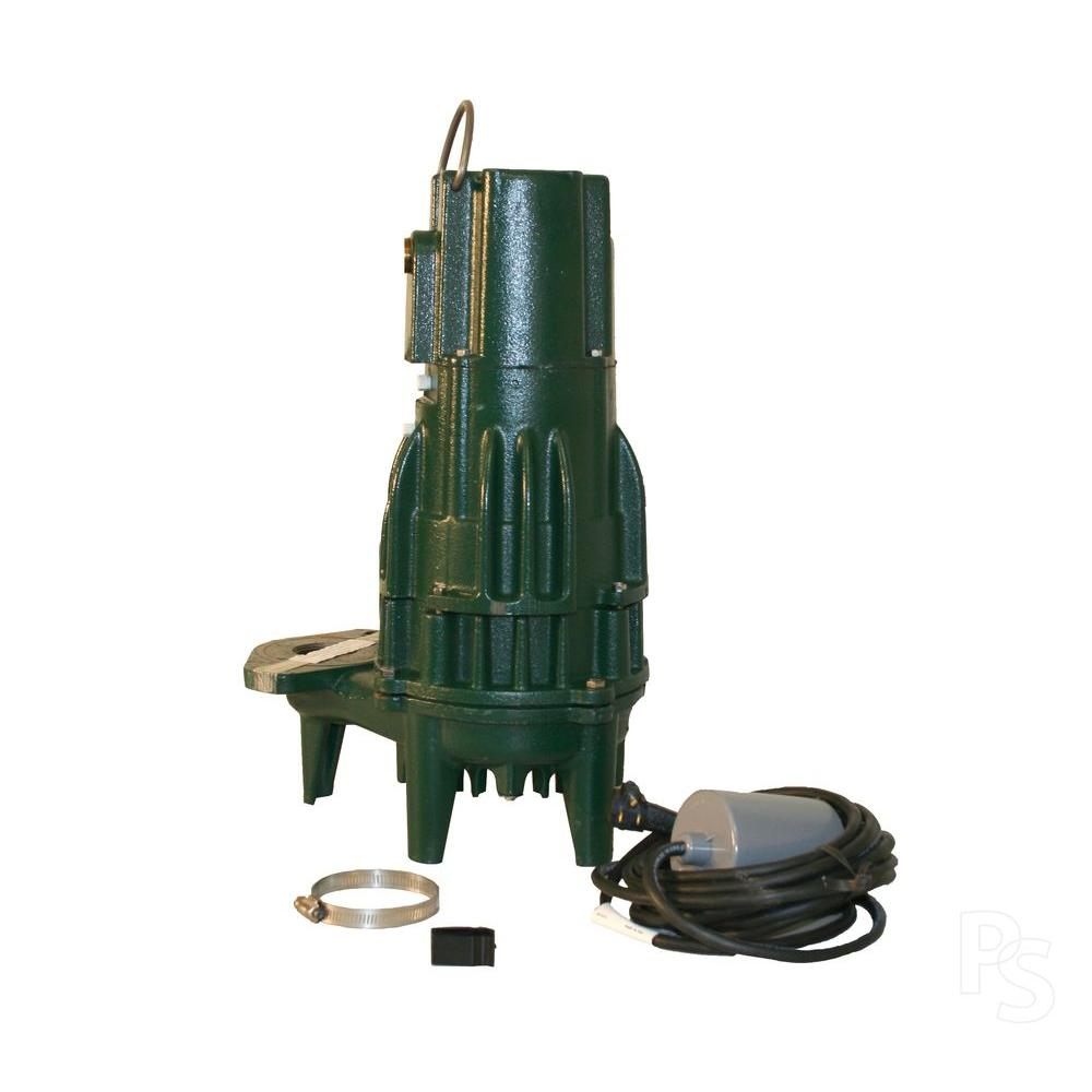 Zoeller BN161 .5 HP Effluent or Dewatering Submersible Pump with 20 ft. Cord and 20 ft. VLFS-DISCONTINUED