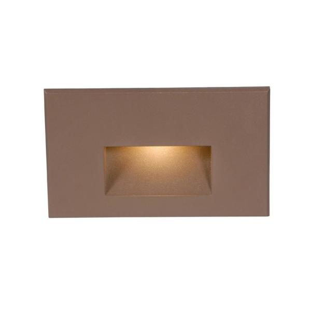 4-Watt Line Voltage 3000K Bronze Integrated LED Horizontal Wall or Stair Light