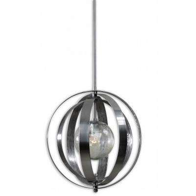Trofarello 1-Light Polished Nickel Hanging Pendant