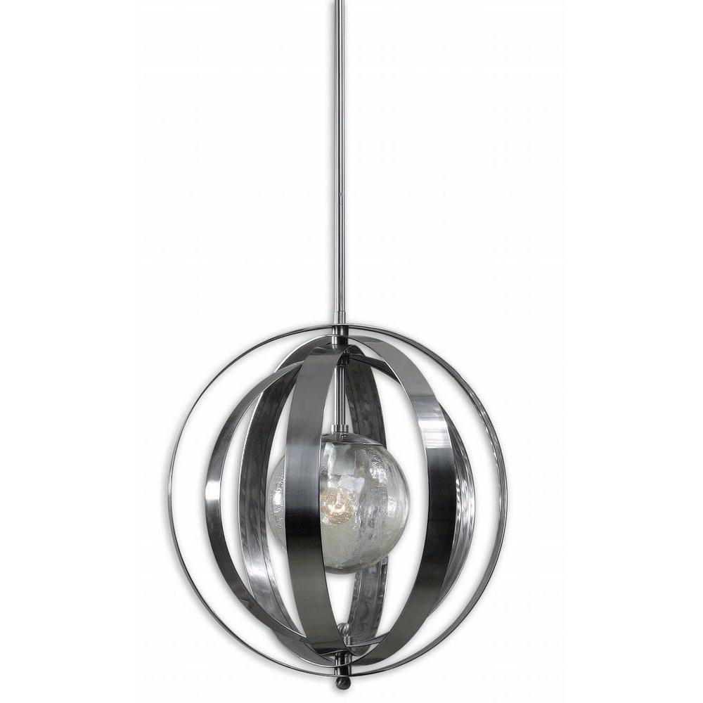 Trofarello 1-Light Polished Nickel Hanging Pendant