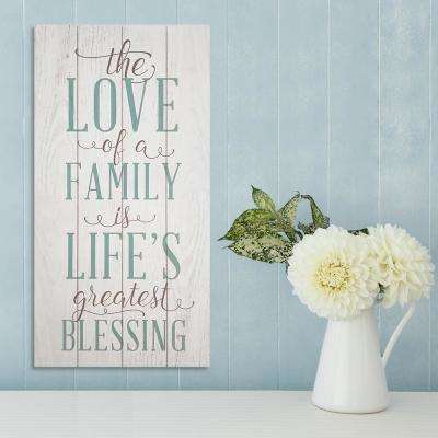 """""""The Love of a Family"""" 10 in. x 20 in. Decorative Sign"""