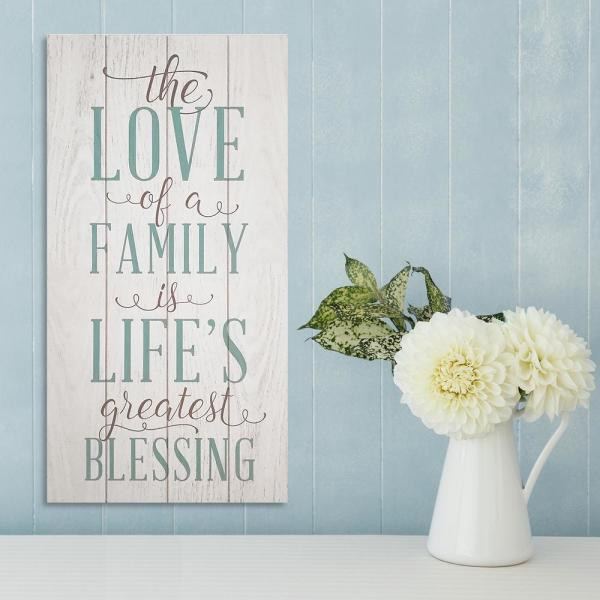 Stratton Home Decor The Love Of A Family 10 In X 20 In
