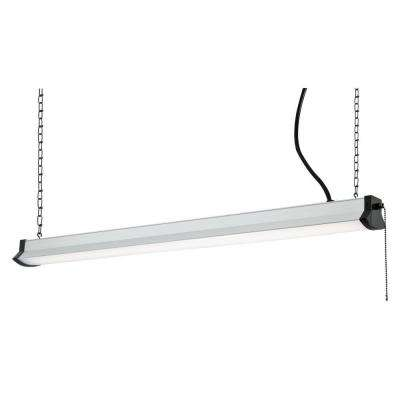 38-Watt Silver Integrated LED Plug-In Shop Light