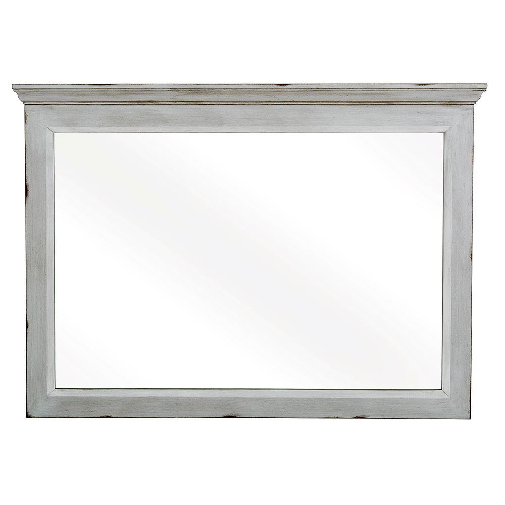 Teagen 42 in. W x 30 in. H Wall Mirror in Vintage Grey