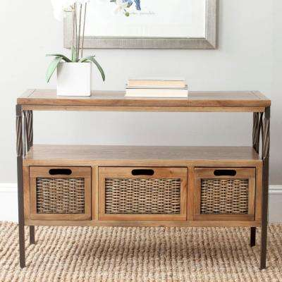 Joshua Oak Storage Console Table