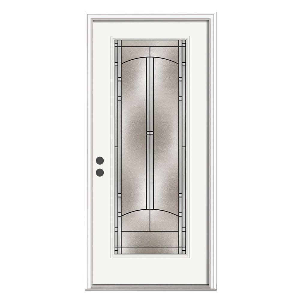 Jeld wen 36 in x 80 in full lite idlewild primed steel for Jeld wen front entry doors