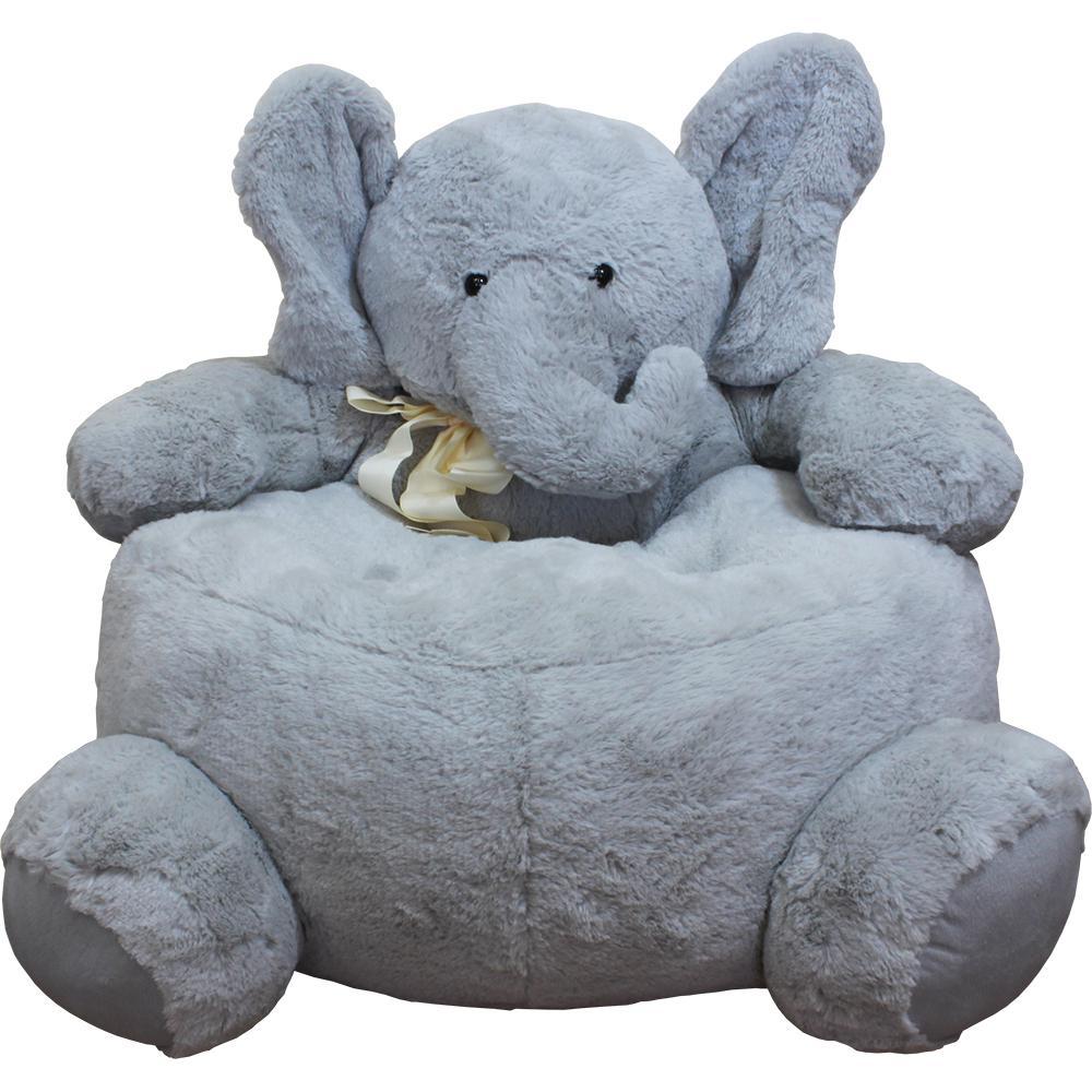 Internet #301640283. Null Gray Plush Kids Elephant Chair