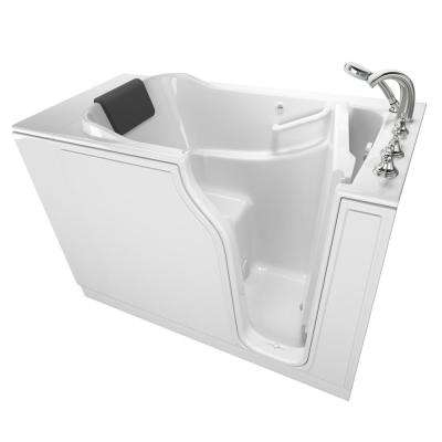Gelcoat Premium Series 52 in. Right Hand Walk-In Soaking Tub in White