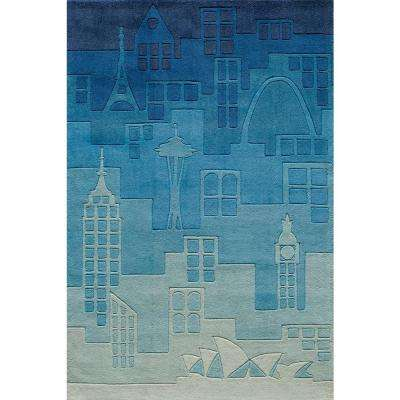 Young Buck Collection Blue 2 ft. x 3 ft. Area Rug