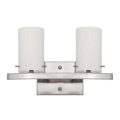 Inspire 2-Light Satin Nickel Bath Light