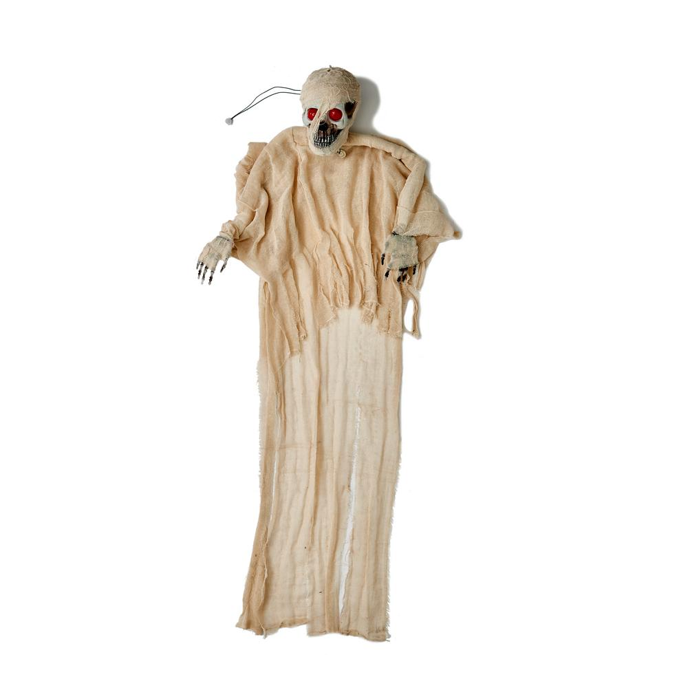 Worth Imports 67 in. Halloween Hanging Mummy with Red Light Eyes and Voice