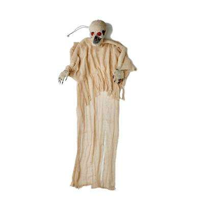 67 in. Halloween Hanging Mummy with Red Light Eyes and Voice
