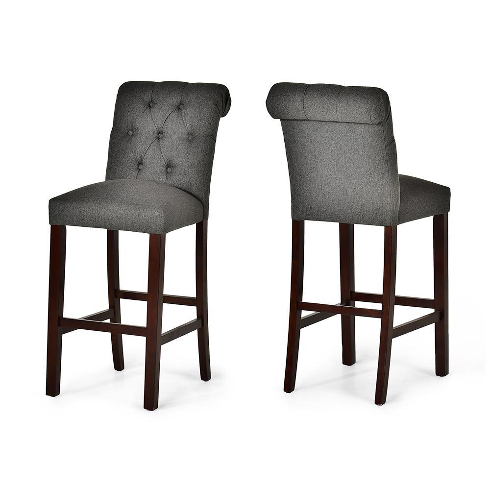 Benson Gray Bar Chair- set of 2