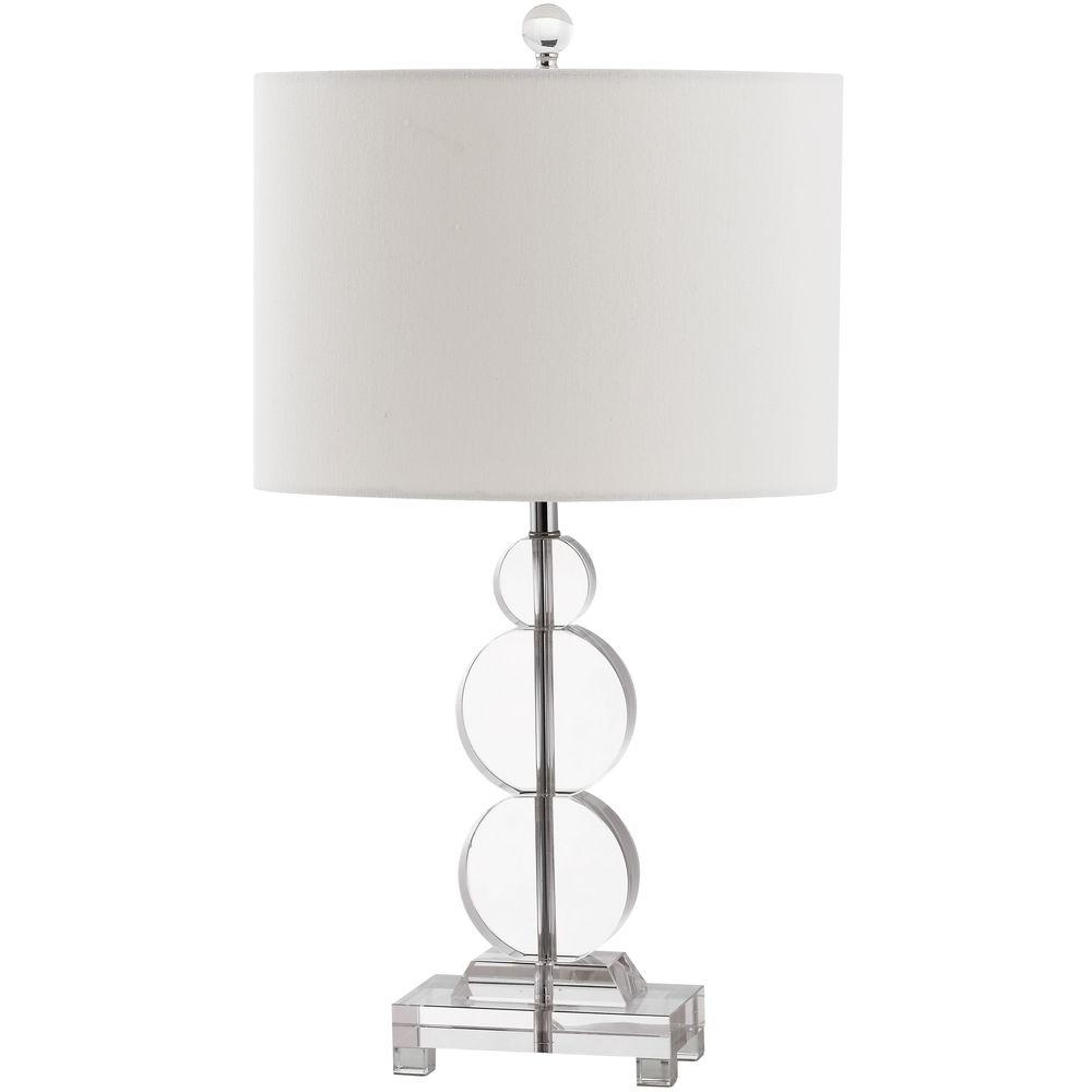 Crystal Table Lamp With White Shade