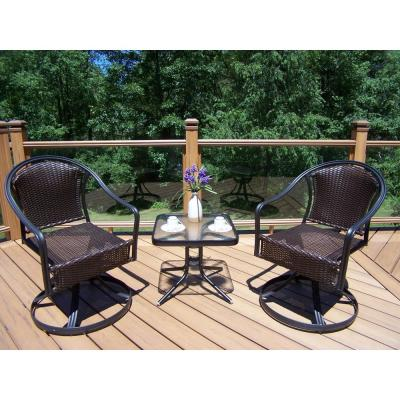 Tuscany Coffee 3-Piece Metal Outdoor Bistro Set