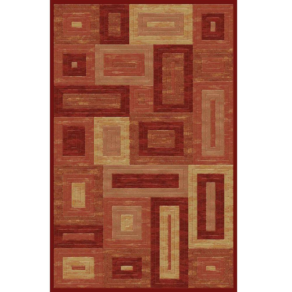 Marvelous Red 7 ft. 10 in. x 9 ft. 10 in.