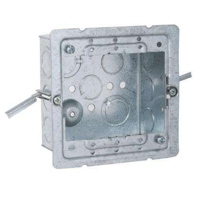 4 in. Square Welded Box, 2-1/8 Deep with Old Work RETRO-RING and 1/2 and 3/4 in. TKO's (25-Pack)
