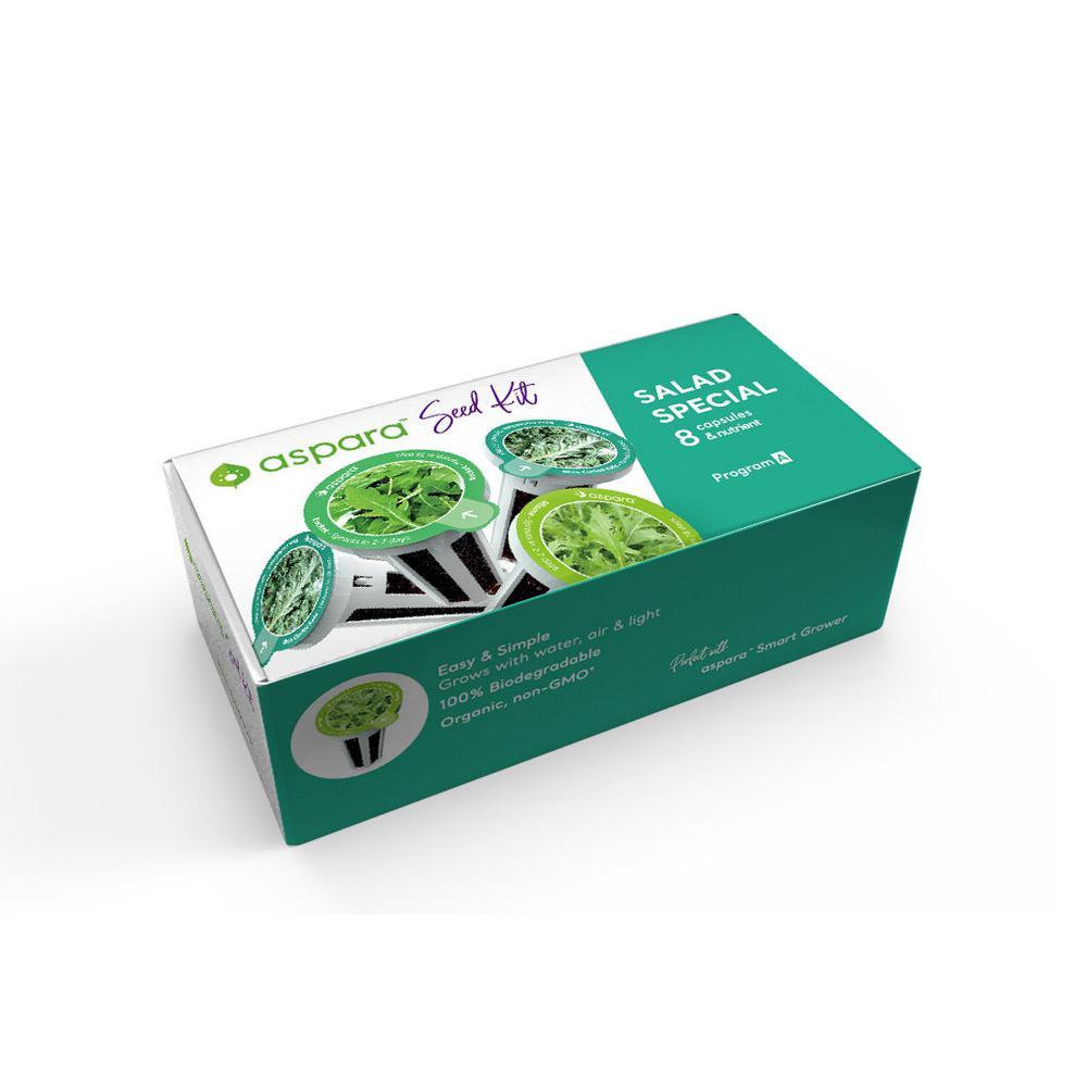 Organic Salad Special 8 Capsule Seed Kit