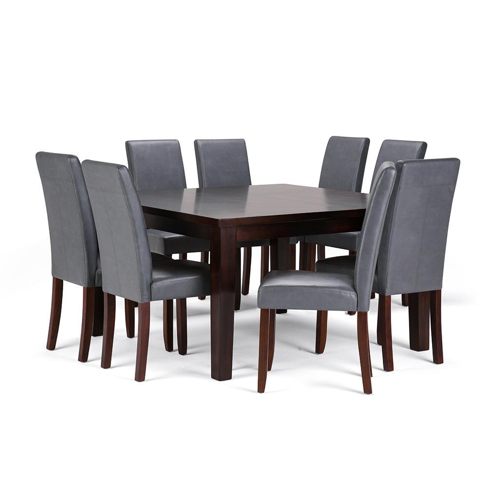 Acadian 9-Piece Stone Grey Dining Set
