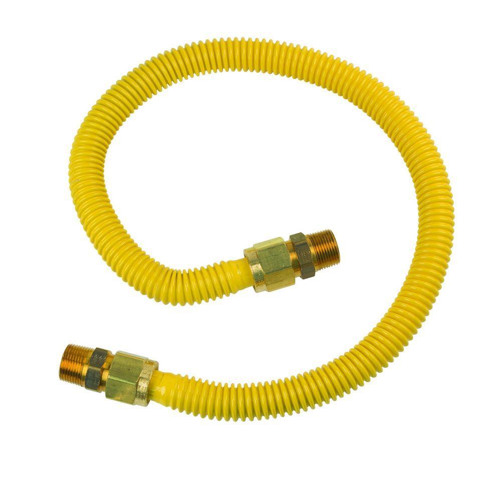BrassCraft ProCoat 3/4 in. MIP x 3/4 in. MIP x 36 in. Stainless Steel Gas Connector 3/4 in. I.D. (255,900 BTU)