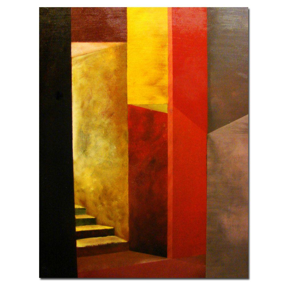 Trademark Fine Art 18 in. x 14 in. Mystery Stairwell Canvas Art