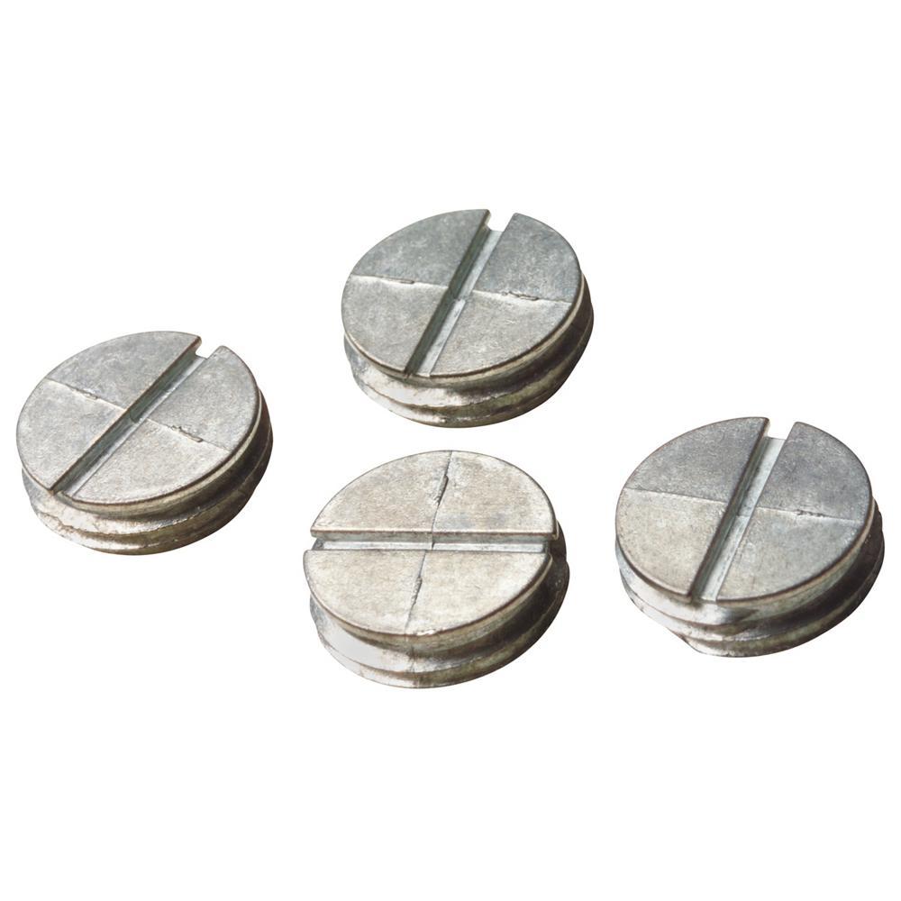 3/4 in. Non-Metallic Closure Plugs - Silver (Case of 30)