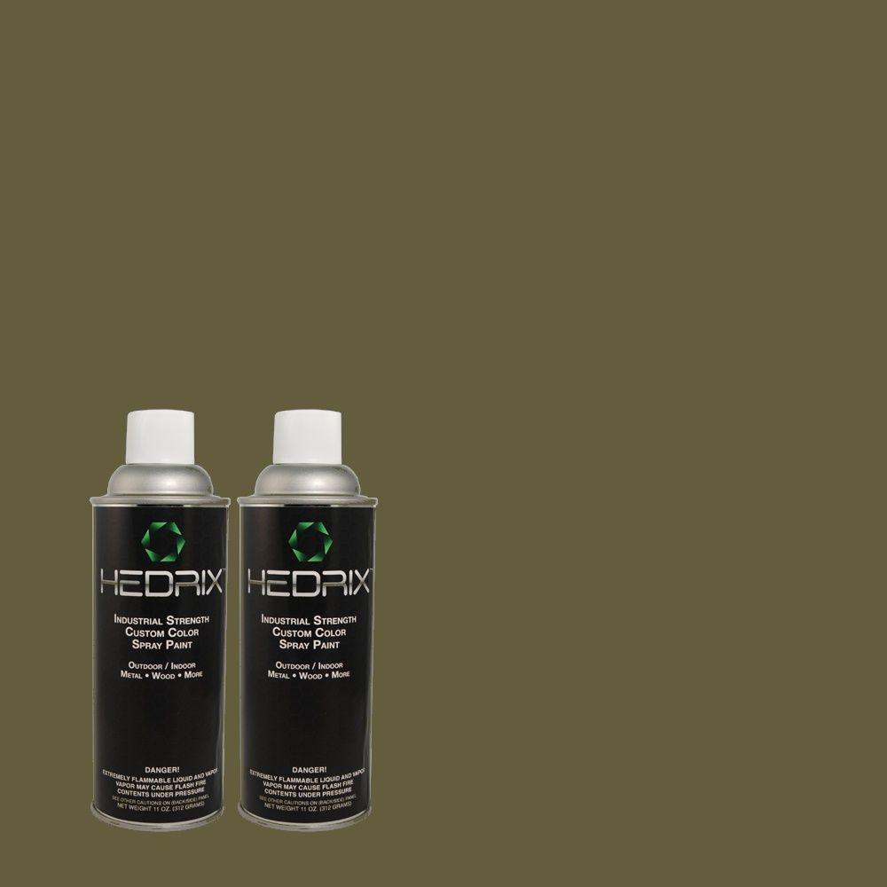 Hedrix 11 oz. Match of 430F-7 Windsor Moss Gloss Custom Spray Paint (2-Pack)