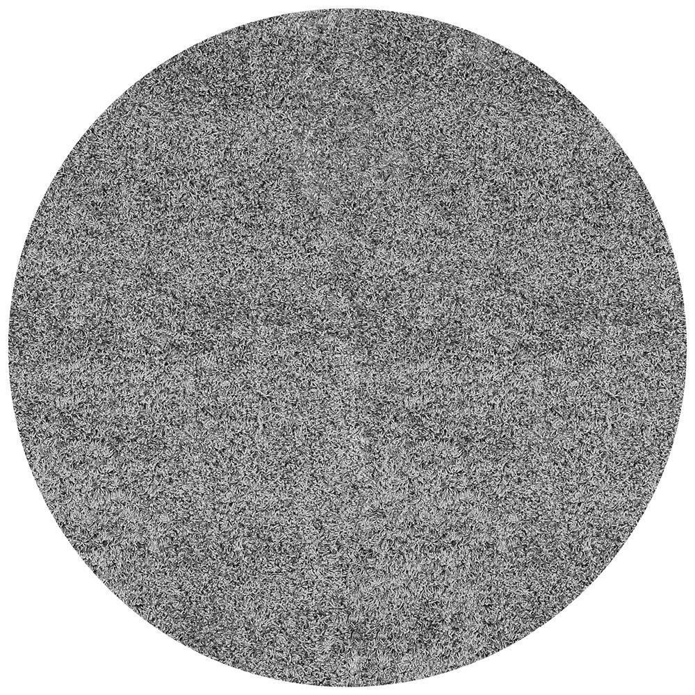 Shag Grey 8 ft. x 8 ft. Round Area Rug