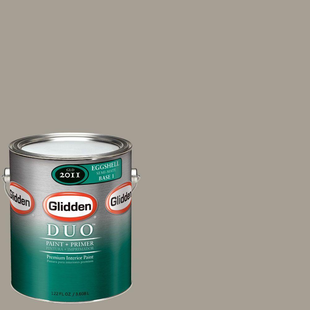 Glidden DUO Martha Stewart Living 1-gal. #MSL247-01E Flagstone Eggshell Interior Paint with Primer-DISCONTINUED