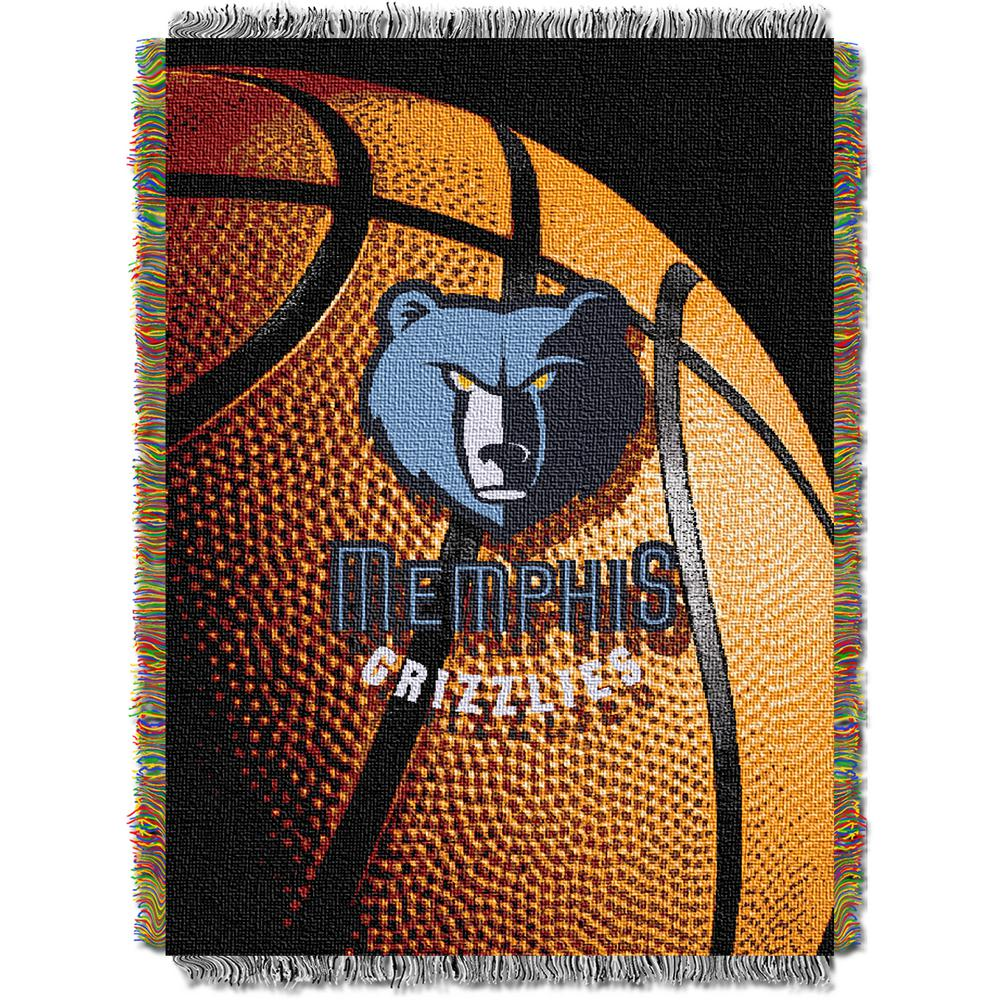 Grizzlies Photo Real Multi Color Polyester Tapestry throw