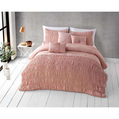 Harley 6-Piece Rose Cloud Queen Comforter Set 14-1313 TPX