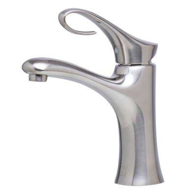 AB1295-BN Single Hole Single-Handle Bathroom Faucet in Brushed Nickel