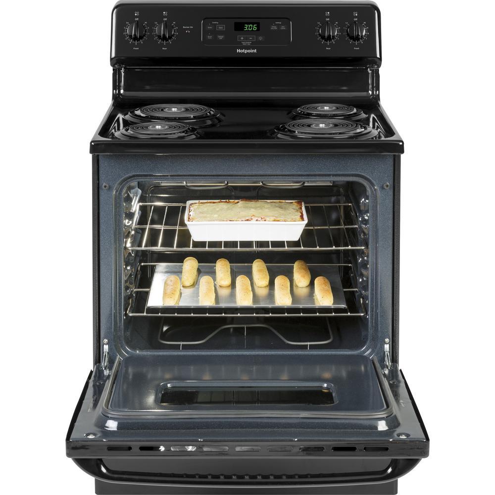 30 in. 5.0 cu. ft. Electric Range Oven in Black