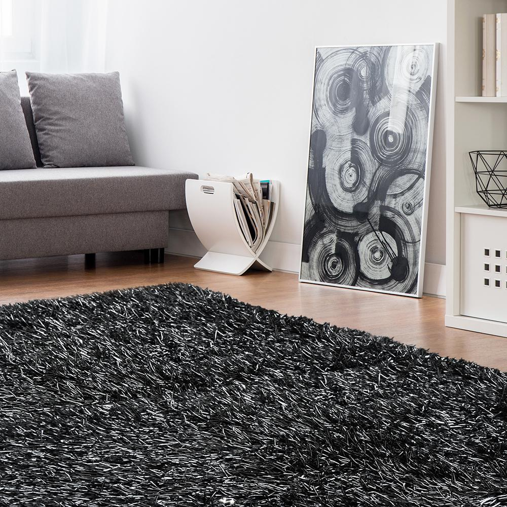 Lanart Electric Ave Black 9 ft. x 12 ft. Area Rug