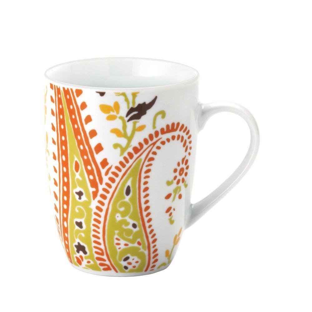 Rachael Ray Paisley 4-Piece Mug Set