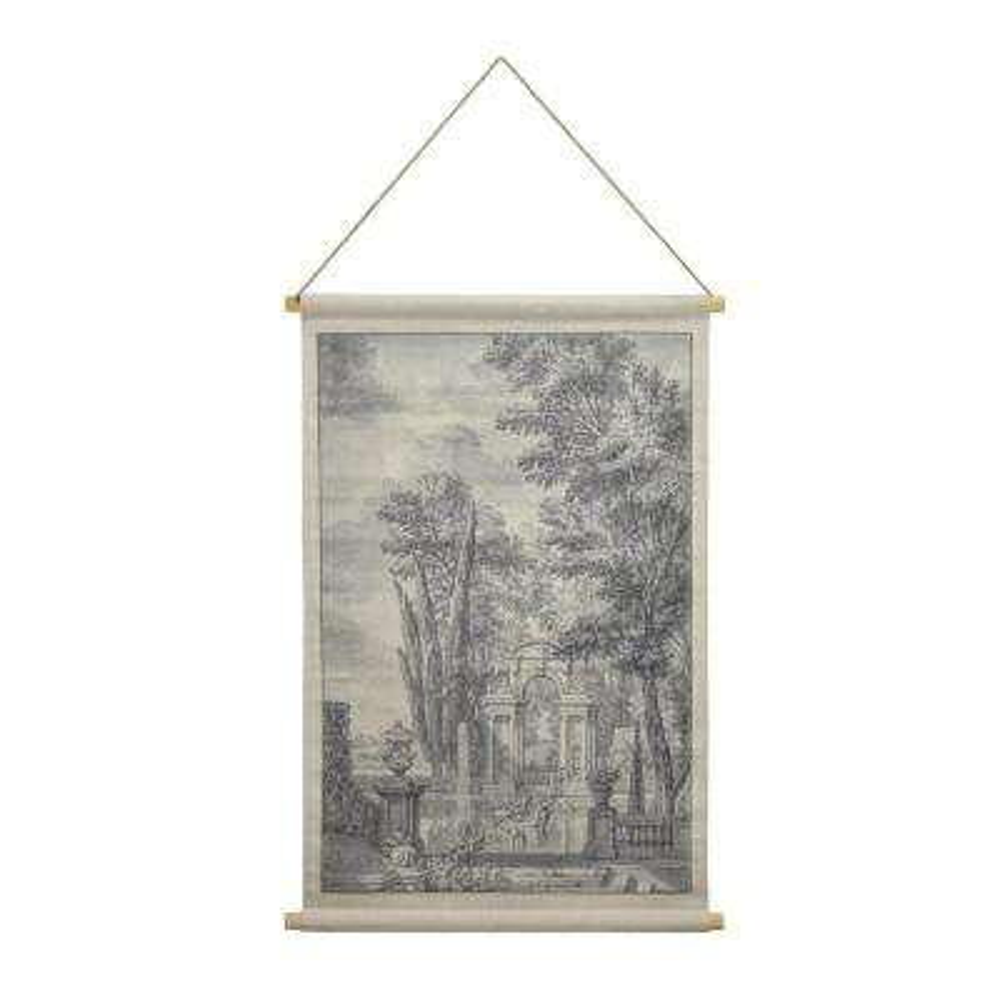 Italian Garden Hanging Linen Tapestry