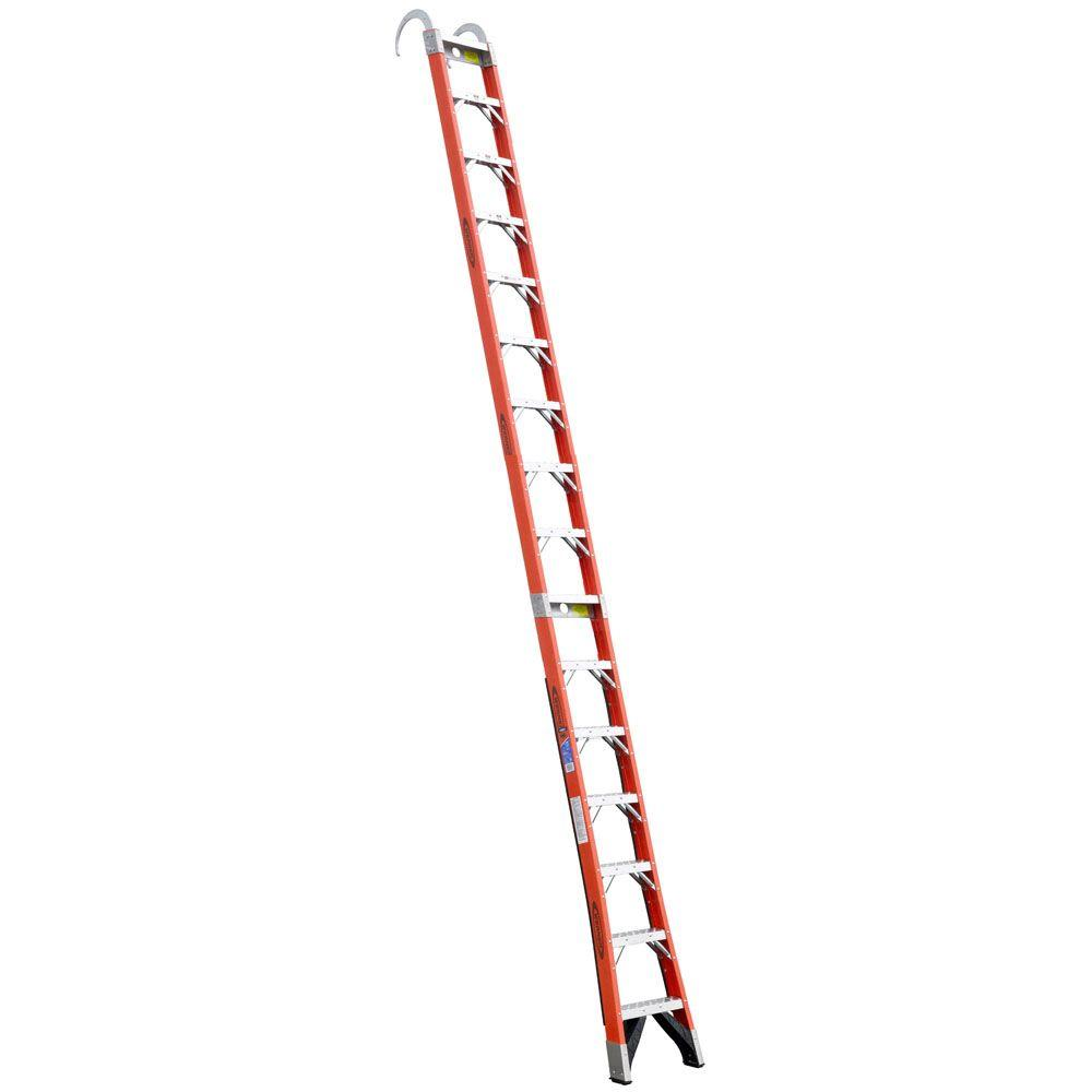 16 ft. Fiberglass Straight Posting Ladder with 300 lb. Load Capacity