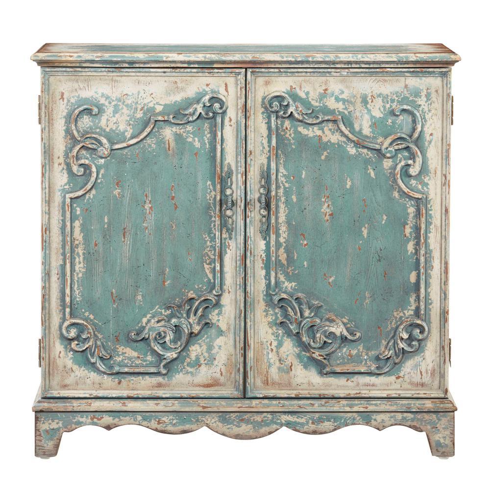 Progressive Furniture Belle Antique French Blue Credenza/Console Cabinet A796-73