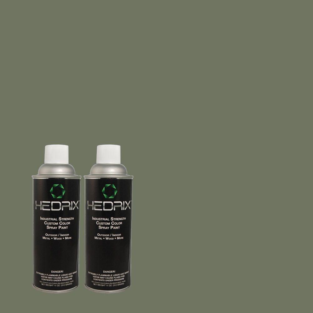 Hedrix 11 oz. Match of 3B56-6 Brackish Green Low Lustre Custom Spray Paint (2-Pack)