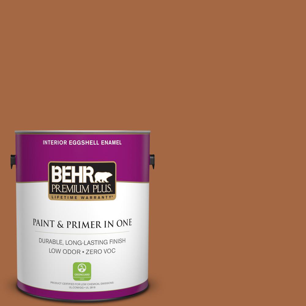 1 gal. #PPU3-16 Maple Glaze Zero VOC Eggshell Enamel Interior Paint