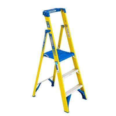 9 ft. Reach Fiberglass Podium Step Ladder with 250 lbs. Load Capacity Type I Duty Rating