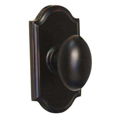 Elegance Oil-Rubbed Bronze Premiere Privacy Bed/Bath Julienne Door Knob
