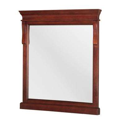 Naples 24 in. x 32 in. Single Framed Wall Mirror in Tobacco