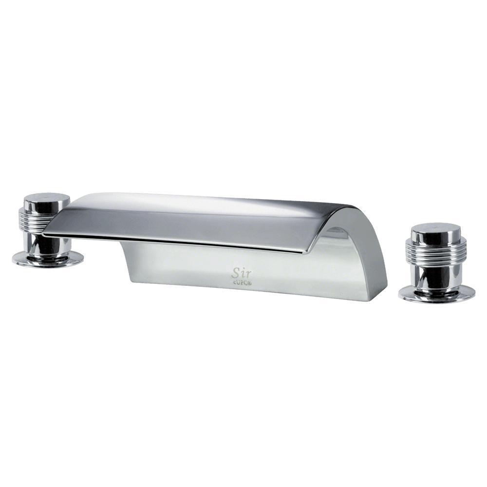 2-Handle Deck-Mount Roman Tub Faucet in Chrome
