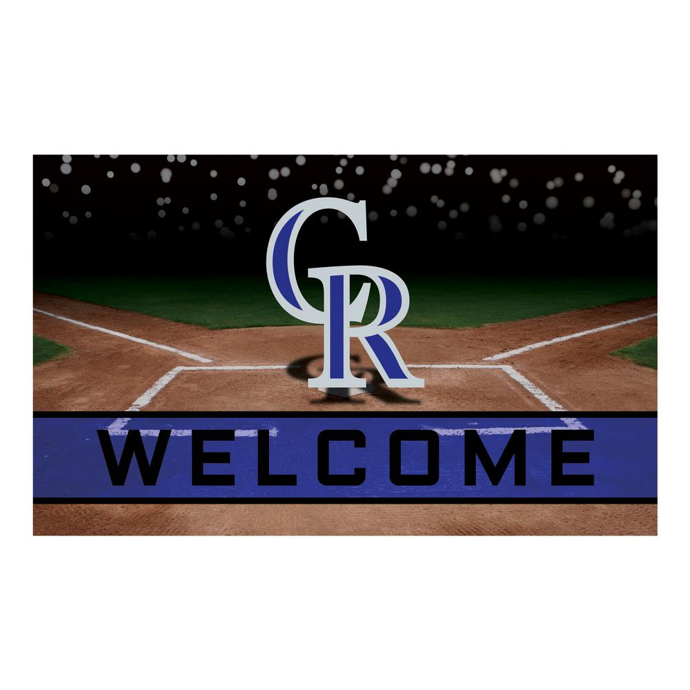 4dab436602537 FANMATS MLB - Colorado Rockies 18 in. x 30 in. Rubber Door Mat-21917 ...