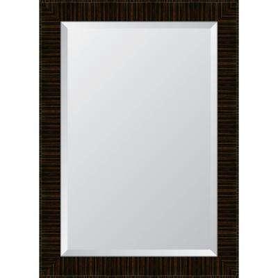 31 in. x 43 in. Framed 31/4 in. High Gloss Zebra Walnut Resin Frame Mirror