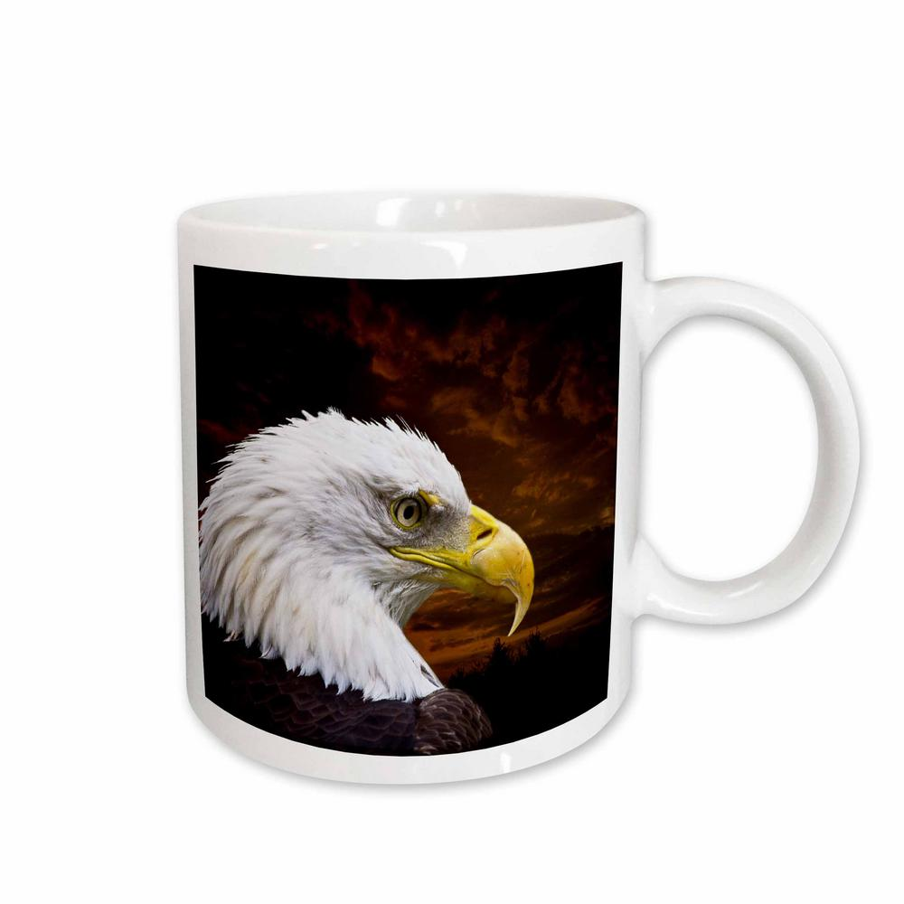 3dRose Angel Wings Designs General Wildlife Birds American Bald Eagle Art Home Decor And 11 Oz White Ceramic Coffee Mug 48674 1
